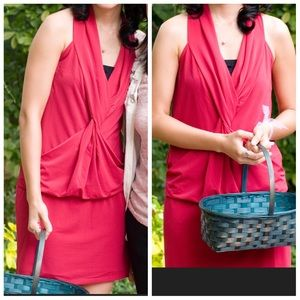 Benetton made in Italy red dress 00/sz